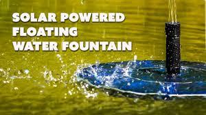 <b>Solar</b> Powered <b>Water Fountain</b> Birdbath Floating <b>Water Fountain</b> for ...