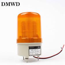 Small Rotating Beacon Light Ac 220v Red Yellow Green Blue Led Rotating Beacon Warning