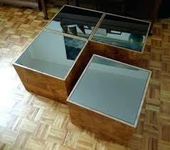 wood cube coffee table set sixties coffee table cube coffee table set in burl wood glass wood cube coffee table