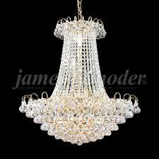 james moder 94805g22 jacqueline crystal gold chandelier lighting loading zoom
