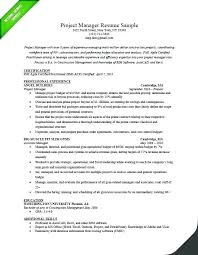 Project Management Objective Resumes Manager Resume Job Statements