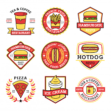 fast food restaurants logos. Exellent Logos Fast Food Restaurant Logo Collection Premium Vector Throughout Restaurants Logos T