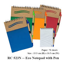 rc 523n eco notepad with pen twinlink services corporate gifts door gift premium gifts supplier in msia