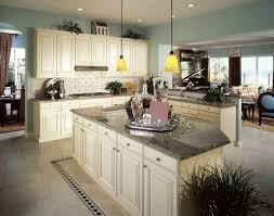 off white cabinets dark floors. these stunning granite counters go well with the off-white cabinetry and powder blue walls off white cabinets dark floors i