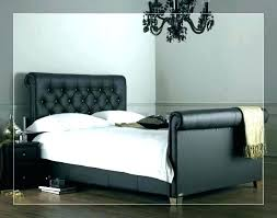 brown leather full size headboard black queen square tufted white king faux