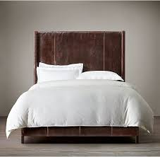leather headboard king. Wonderful Headboard American Style Bedroom Furniture Grayson Leather Upholstered Bed Low Back U0026  High Throughout Headboard King