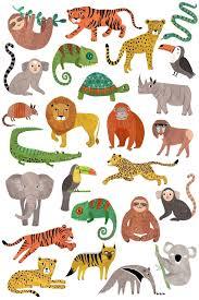 Dětské Dočasné Tetování Jungle Animals Bella Rose