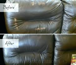 fixing fake leather couch