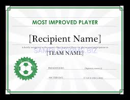 Preview Pdf Most Improved Player Certificate Editable Title 1