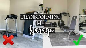 Garage gym & office conversions. I Transformed My Small Garage Into A Gym Affordable Tips Tricks To Creating A Home Gym Youtube