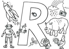 Letter R Coloring Sheet Letter R Coloring Page Coloring Letter E