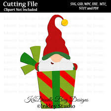 2299 christmas vectors & graphics to download christmas 2299. Christmas Sursprise Gift Gnome Svg Cut File Paper Peicing Clipart Digital Stamps Scrapbooking Cards 3 50 Welcome To Kadoodle Bug Designs Svg Cut Files More