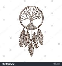 Drawn Dream Catchers Hand Drawn Indian Dream Catcher Withe Stock Vector 100 13