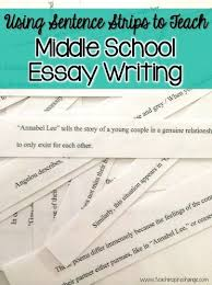 best middle school writing ideas grade  fun educational middle school essay writing sentence strips teach inspire