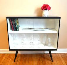 bookcases black bookcase with glass doors ad vintage mid century modern white sliding door