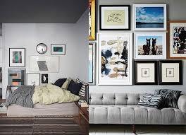 sofa. Committing to an art wall ...