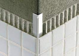tile outside corners tile edge trim in aluminium concealed outside corner mosaictec rjf