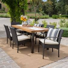 7 piece patio dining set. Bavaro Outdoor 7-piece Rectangle Dining Set With Cushions By Christopher Knight Home 7 Piece Patio