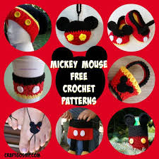 Disney Patterns Fascinating Mickey Mouse Crochet Patterns Crochet
