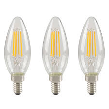 Led Light Bulbs Home Depot Canada 40w Equivalent Bright White 3000k B10 Dimmable Led Light Bulb 3 Pack
