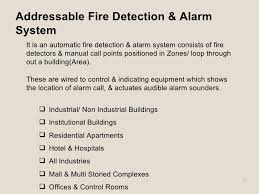 fire detection and alarm system addressable fire detection