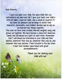 What To Say In Your End Of Year Letter To Parents Kindergarten