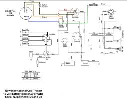wiring diagram for key start volt alternator conversion 12 volt alt and key start cub jpg
