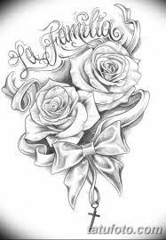 эскиз тату цветы на руку 7 Tatufotocom