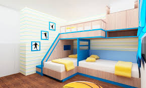 Exciting Triple Bunk Beds For Kids Rooms Pictures Decoration Ideas