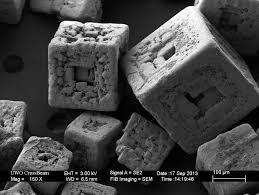 Salt Grains Under Scanning Electron Microscope Look Like Precursor