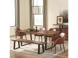 rustic dining room table. Scott Living Jamestown Rustic Dining Room Set With Bench Table