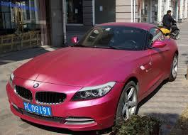 BMW 3 Series bmw z4 matte : BMW Z4 is shiny Pink in Shanghai, China - CarNewsChina.com