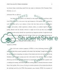post traumatic stress disorder research paper example topics and post traumatic stress disorder essay example