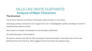 hills like white elephants by ernest hemingway hills like white elephantsanalysis