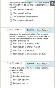Research Problem Statement Examples Solved What Portion Of The Proposal Indicates Whether Ed