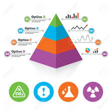 Chemistry Chart Template Pyramid Chart Template Attention And Radiation Icons Chemistry 11