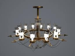 chandelier 3d model fbx unitypackage prefab 1
