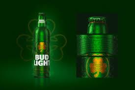 Green Bud Light Bottles Bud Light Design Advert By Fcb St Patricks Day Bottle