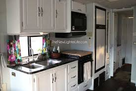 kitchen closet view of remodeled 96 winnebago adventurer