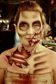 zombie special fx makeup using airbrush makeup and kryolan aqua colors
