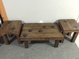 ... Coffee Tables, Mesmerizing Teak Rectangle Traditional Wood Coffee Table  And End Tables Idea As The ...