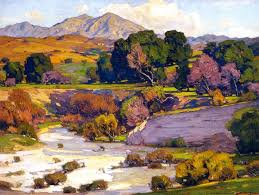 william wendt saddleback mountain mission viejo 1923 oil on canvas