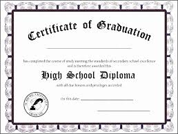 High School Diploma Template Awesome Unique Free Ged Diploma