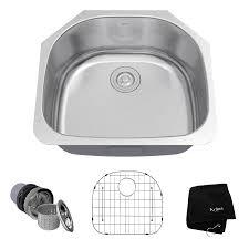 kraus premier kitchen sink 21 in x 23 in stainless steel single basin undermount residential kitchen sink