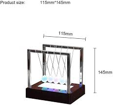 Sq Newton Pendulum LED Light Swing Balls ... - Amazon.com