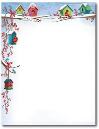 Christmas Birdhouse Stationery