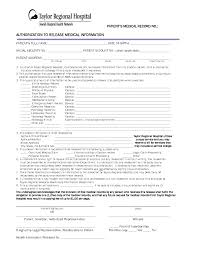 Free Medical Records Release Authorization Form Hipaa Pdf Eforms ...