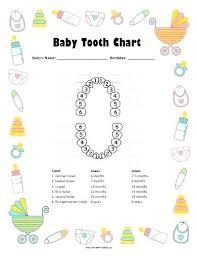Tooth Chart Printable Full Sheet Andbeyondshop Co
