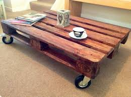 Coffee Table On Wheels Tables Rustic With Caste  ThippoPallet Coffee Table On Wheels