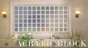 acrylic block windows from accent building products